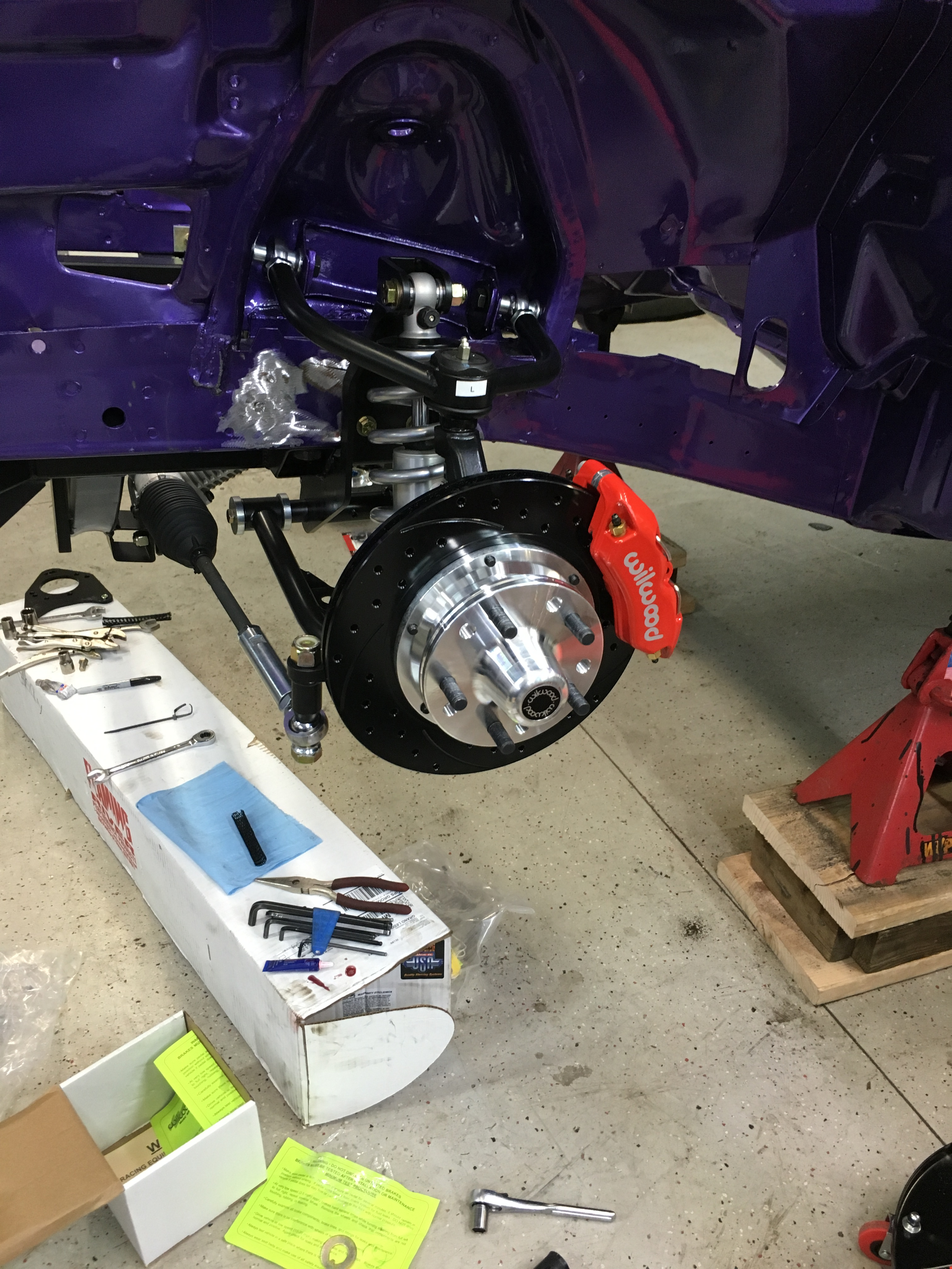 front brakes installed